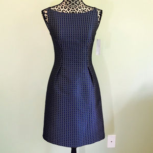 New  Elie Tahari blue and gold dress Size 2